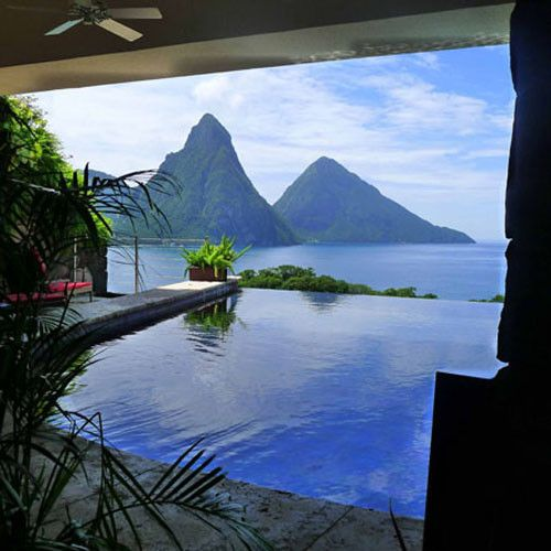 Jade Mountain Resort :: St. Lucia. If we could have afforded it...but we got close to the location with fond doux