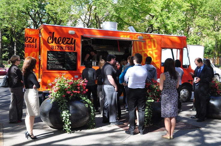 Canada's Top 10 Restaurant Trends Of 2013  ~~  5. Food Trucks/Street Food:  OK, due to a Canadian-style overload of red tape, this country doesn't have nearly as many food trucks as the United States, but the trend is going in the right direction. We'll take as many as we can get! Pictured here is the grilled cheese truck Cheezy Bizness in Calgary.       (List compiled from Canadian Restaurant and Foodservices Association's 2013 Chef Survey.)