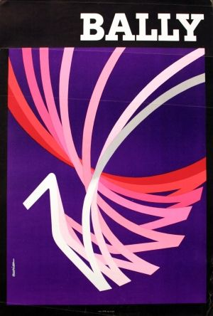 Bally (women's shoes), 1965 - original vintage poster by Aurian