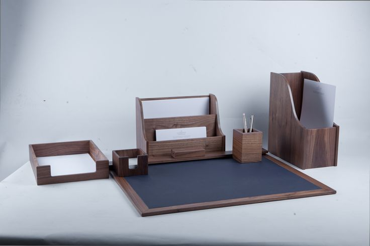 Our stylish desk collection works in both contemporary and traditional spaces with its lovely smooth surfaces and clean lines. These high quality pieces are great to keep everything on your desk in its rightful place.  All products are available in any of our 6 wood finishes, designed to fit in with your own interiors.