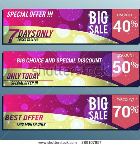 Big sale banner. Sale background. Big sale voucher. Big sale coupon. Sale and discounts poster. Vector illustration. - stock vector