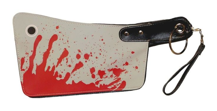 New Bloody Cleaver Hatchet Kreepsville 666 Halloween Horror Clutch Purse Handbag #Kreepsville666 #Clutch