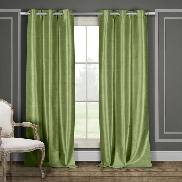 Duck River Daenerys 38 in. W x 84 in. L Polyester Window Panel in Sage (Case Pack =6)-DAENERYS 10366=12