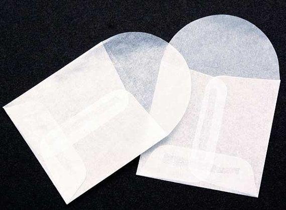 10 Glassine Envelopes  2 x 2 square  envelope by mothsandrustshop