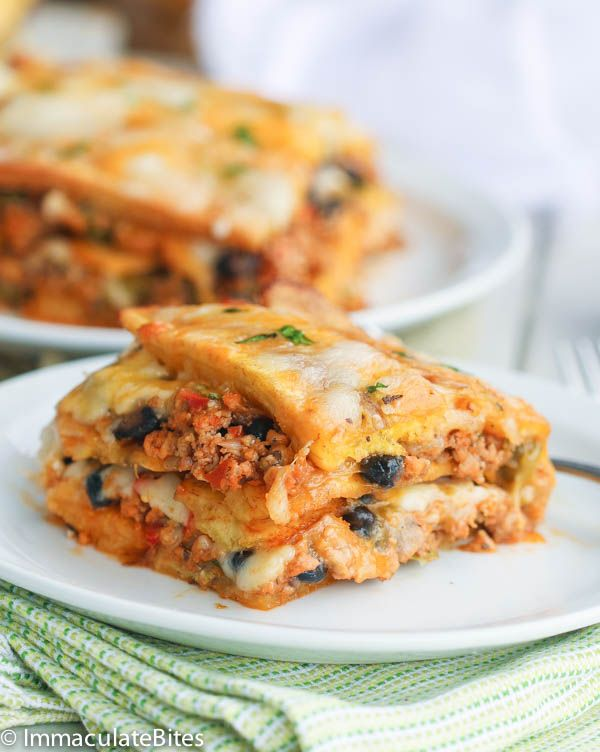 Plantain Lasagna-Pastelon- A Puerto Rican Style Lasagna with a combination of sweet and savory tastes and spiced chicken. Gluten free and paleo friendly.