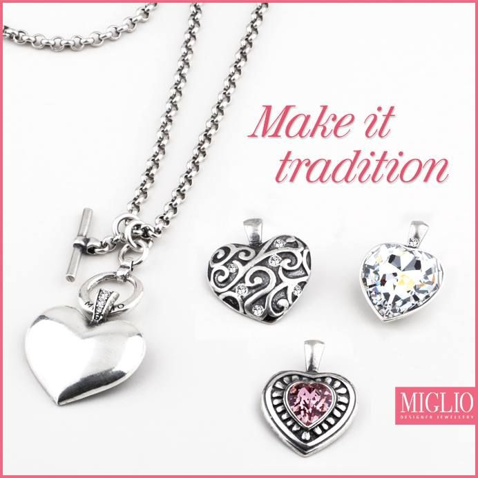Make it #tradition... give her the gift of a memory with one of our exclusive #pendants to add to her ‪#‎migliodesignerjewellery‬ #collection. Featured products: N1404, EN1162, EN985, EN1191, EN1173