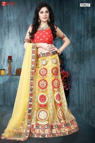 WOMEN'S PRETTY CIRCULAR LEHENGA STYLE IN BEIGE COLOR WITH RESHAM WORK DUPATTA #Zinngafashion #Lehengas  #Pretty #Special #Offers #Happy#Shopping #Indianwear   #LatestTrend #Womenswear #Designwear #Nice #Picoftheday #Wonderful