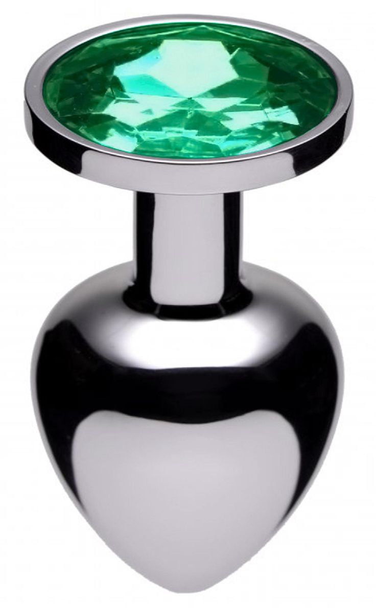 Jewel Butt Plug Style : Emerald-Emerald