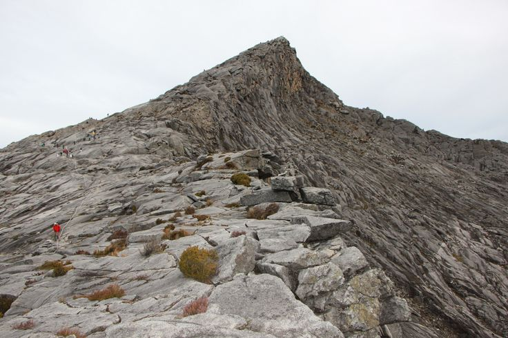 The summit, so close yet do far. Mount Kinabalu
