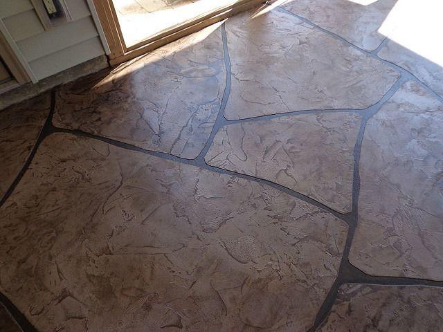 12 best grand flagstone concrete makeover images on pinterest ... - Concrete Patio Resurfacing Ideas