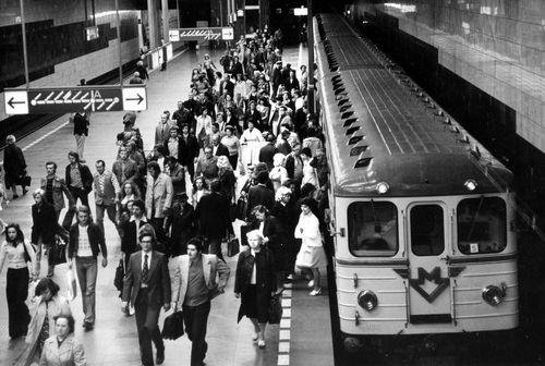 Celebrating 40 years of Prague metro: Muzeum Station in 1975