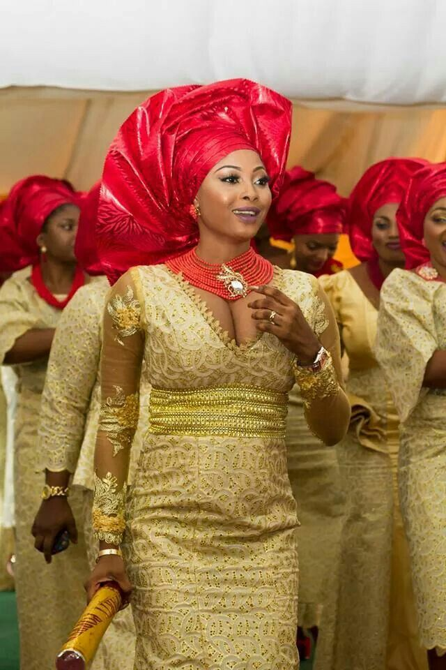 Gorgeous red and gold ~Latest African Fashion, African Prints, African fashion styles, African clothing, Nigerian style, Ghanaian fashion, African women dresses, African Bags, African shoes, Kitenge, Gele, Nigerian fashion, Ankara, Aso okè, Kenté, brocade. ~DK