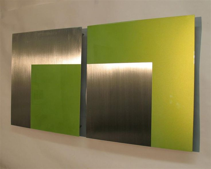 Contemporary Metal Wall Art Sculpture Variation One, Lime Green, Atlanta  Georgia