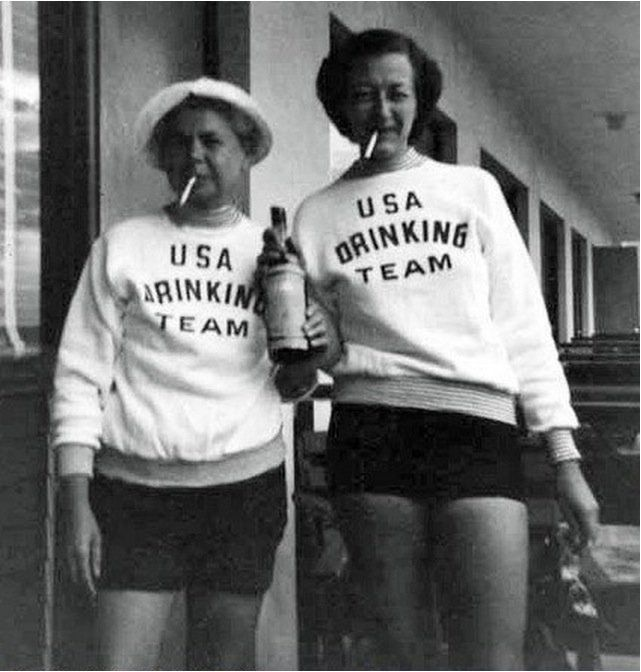 USA drinking team ~ didn't even know there was one, though they're probably the best! U - S - A!