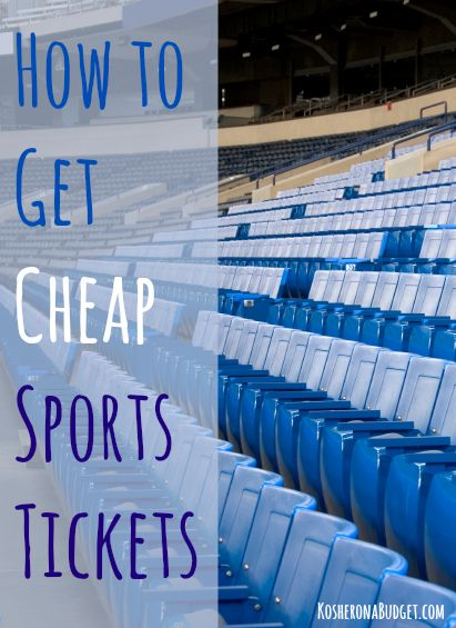 How to Get Cheap Sports Tickets-Good to know considering I LOVE going to sporting events :-)