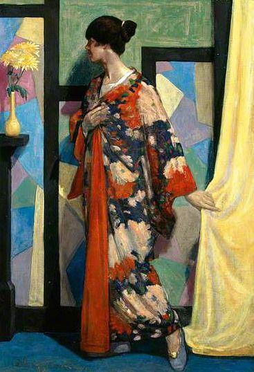 The Kimono, 1919 by William McCance (Scottish 1894-1970)