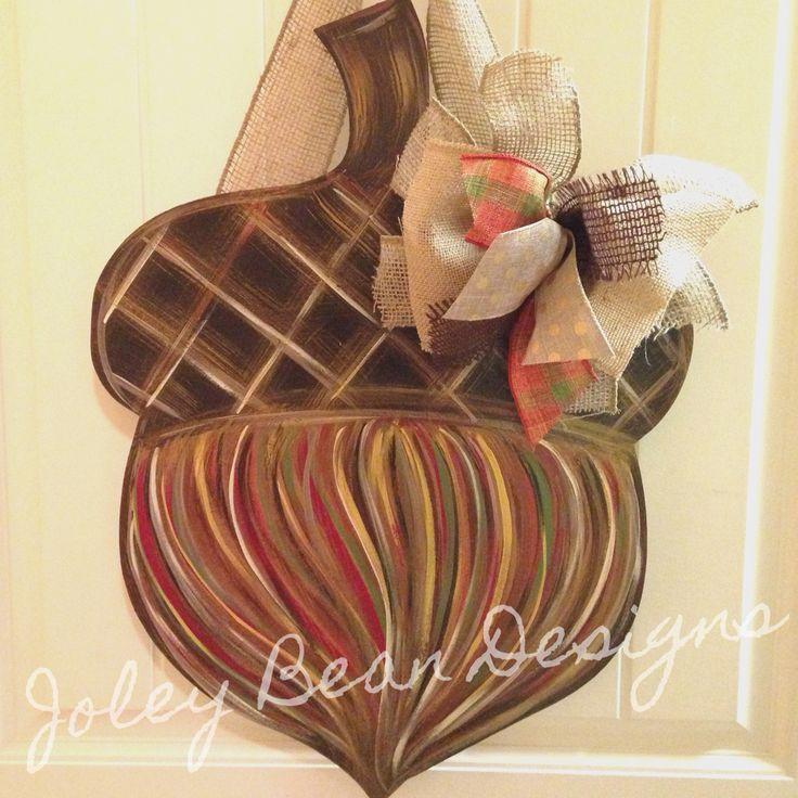 fall door hanger, acorn door hanger, Joley bean designs