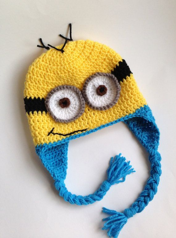 Hey, I found this really awesome Etsy listing at http://www.etsy.com/listing/162692632/minion-hat-crochet-hat-minion-crochet