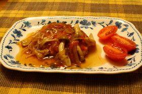 お豆腐ハンバーグきのこソース