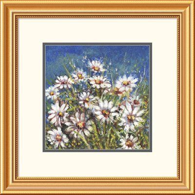 "Global Gallery 'Campo di Margherite' by Florio Framed Painting Print Size: 26"" H x 36"" W x 1.5"" D"