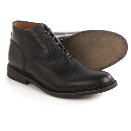Frye James Bal Leather Chukka Boots (For Men) in Black