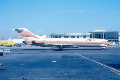 Never tired of old pink colors grinningbirds rolling runway 27. I've also been lucky to photograph her in Air 1 colors. First flight was July 22, 1969. Delivery date was July 31, 1969. Other serials - N376PA with Pan Am and F.A. Connor, LV-WDS with AeroSur Patagonia, and also N545PS with Air 1, Air National, World Airways, Air Atlanta, and Chancelor Corp. Wears FN 218 with PSA, & FN 45 with Air 1. Broken-up at EZE (Buenos Aires) as LV-WDS. - Photo taken at San Diego - International &#...