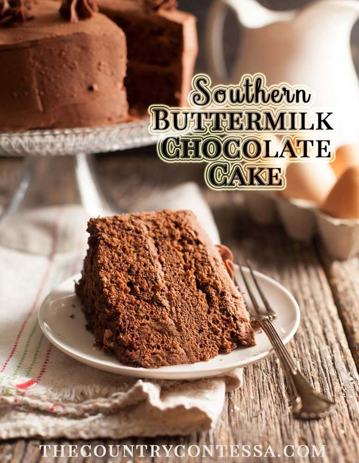Every cook needs a buttermilk chocolate cake recipe in their file. Easy to make, it freezes well and boasts a chocolate ganache frosting.  via @contessa_cooks
