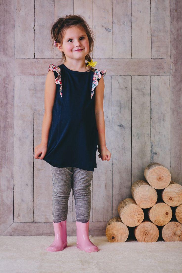 Madie Flutter Dress - Ink