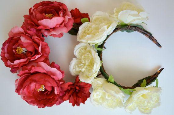 Vinchas con flores. Inspired by Frida Khalo.  www.facebook.com/accesorioscoronada