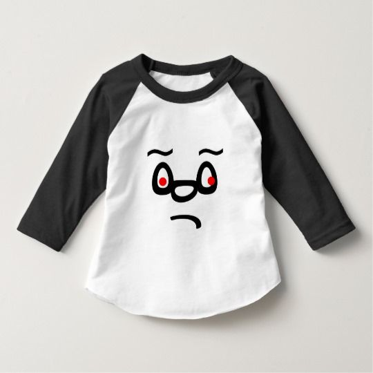 Sad Face T-Shirt a sad abstract face on a t-shirt with red eyes.