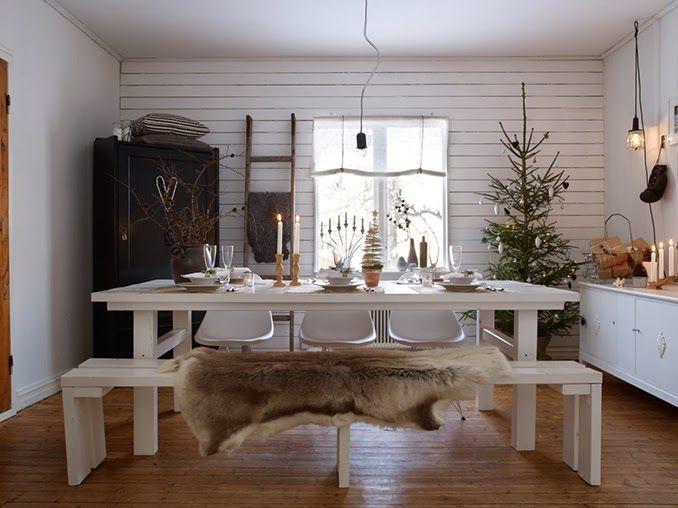 skandynawskie święta,święta z choinką w stylu skandynawskim,wiejski styl świąt,dekoracje świąteczne z choinką