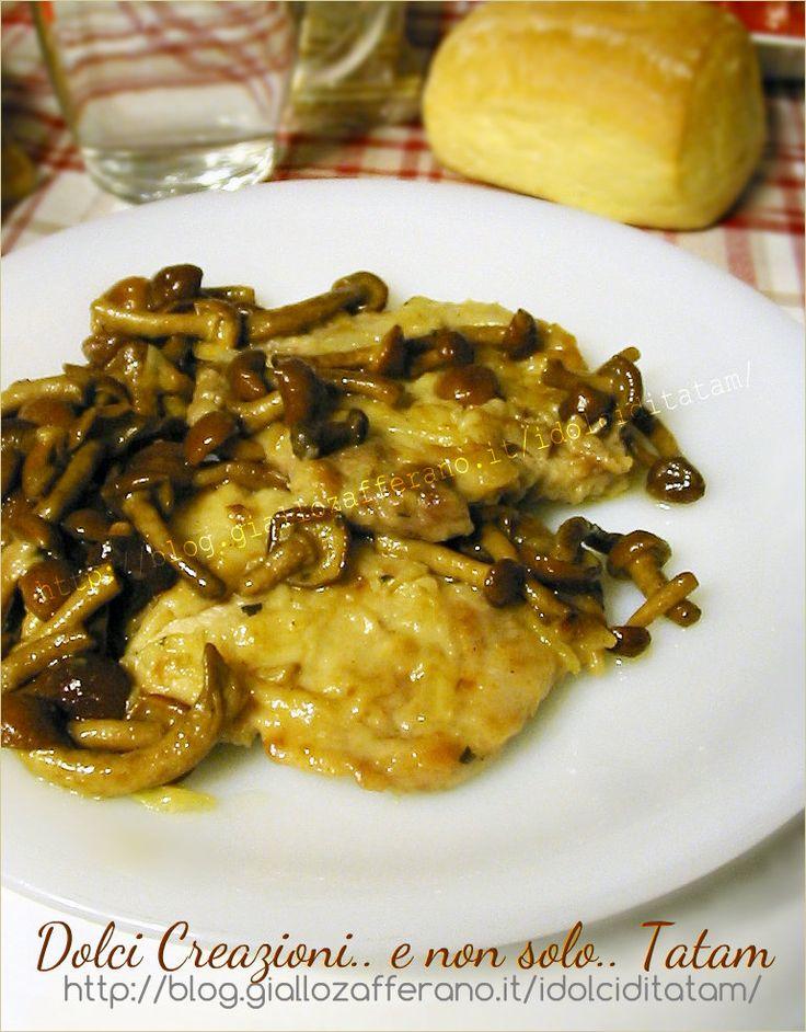 Scaloppine ai funghi chiodini, un secondo piatto a base di carne, completo e delizioso. Una ricetta abbastanza velocemente e dagli ottimi risultati!