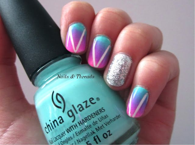 Nails & Threads: Gradient Hipster Nail Art