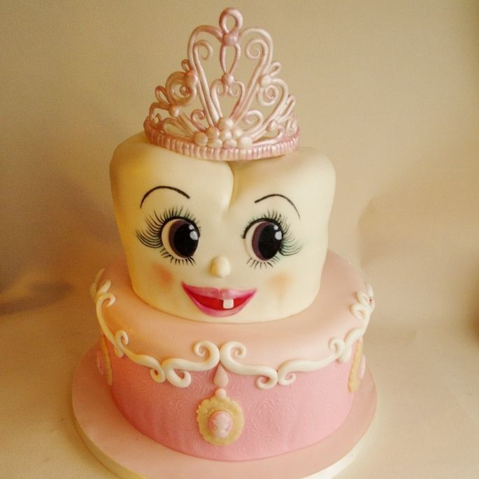"""What an adorable """"First Tooth"""" celebration cake! #SweetTooth #ToothyTreats #SmartMouth"""