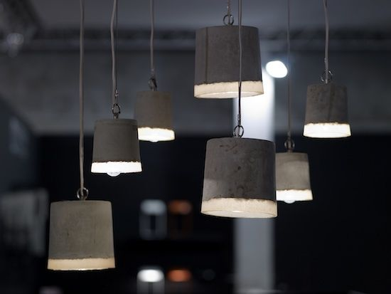 Bathroom or kitchen pendants- concrete and rubber. 2 sizes. Available through www.hunter-ivy.com.au