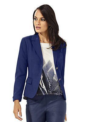 veste blazer bleu nuit coupe tr s l gante collections. Black Bedroom Furniture Sets. Home Design Ideas