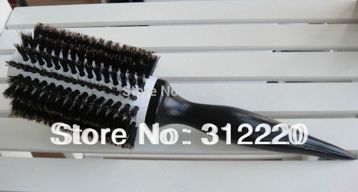 16 Row  ceramic hair brush professional hair brush/100%Nature Boar Bristle Hair Brushes,Size:25*dia 6.8cm+Free Shipping