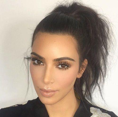 beauty, eyebrows, and kim kardashian image
