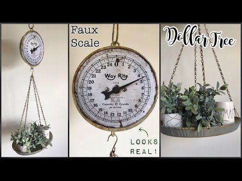 Dollar Tree DIY Farmhouse Hanging Scale – YouTube