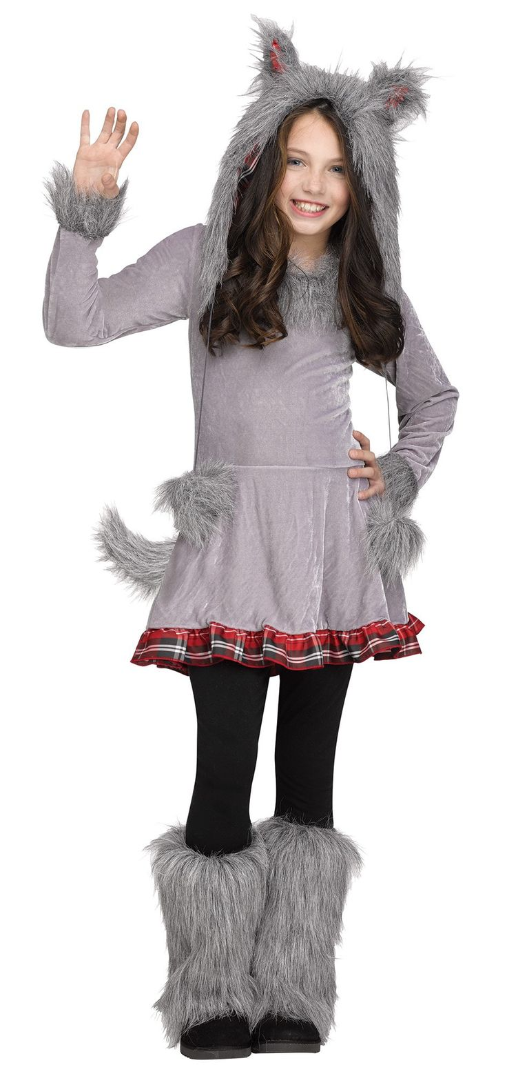 wolf cub girls costume - Wolf Halloween Costume Kids