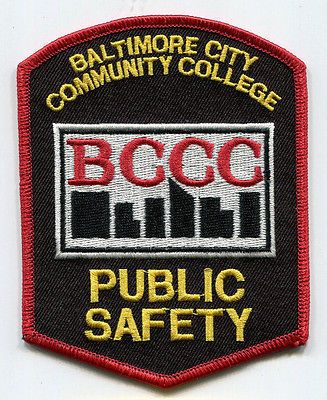 Baltimore-City-Maryland-Community-College-Public-Safety-Patch
