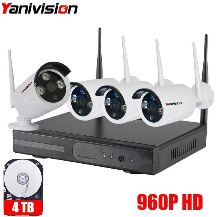 960P Wireless CCTV System 4ch Powerful Wireless NVR IP Camera IR-CUT Bullet CCTV Camera Home Security System Surveillance Kits. Yesterday's price: US $232.00 (188.45 EUR). Today's price: US $141.52 (115.30 EUR). Discount: 39%. #homesecuritysystemcameras
