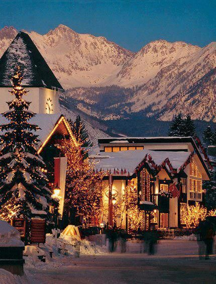 Does this shot of Vail, Colorado make you want to book a ski vacation? #Travel #GoTravel
