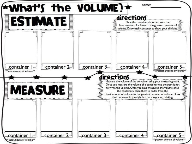 29 best Volume images on Pinterest   Classroom ideas, Math ...