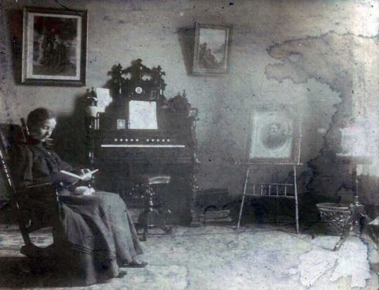 Well over 100 years ago in Oregon, Lydia sat for a portrait in her parlor