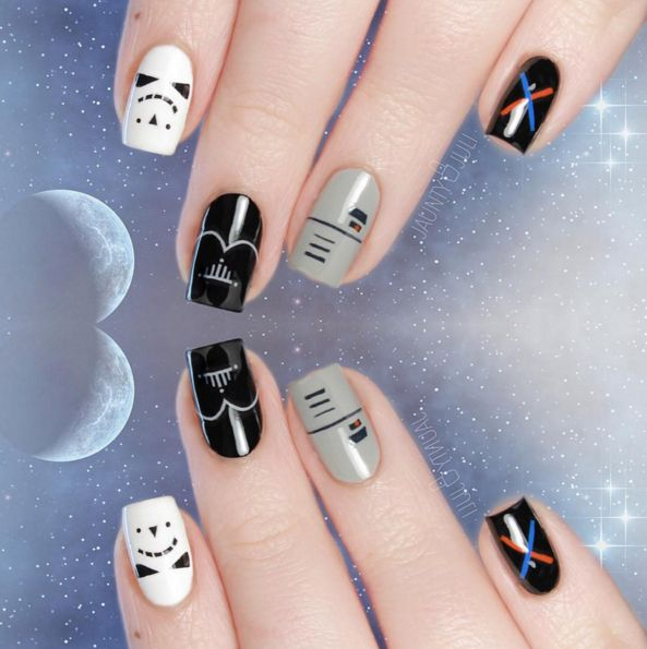 These Star Wars Nail Art Looks Embrace Both the Dark and Light Sides