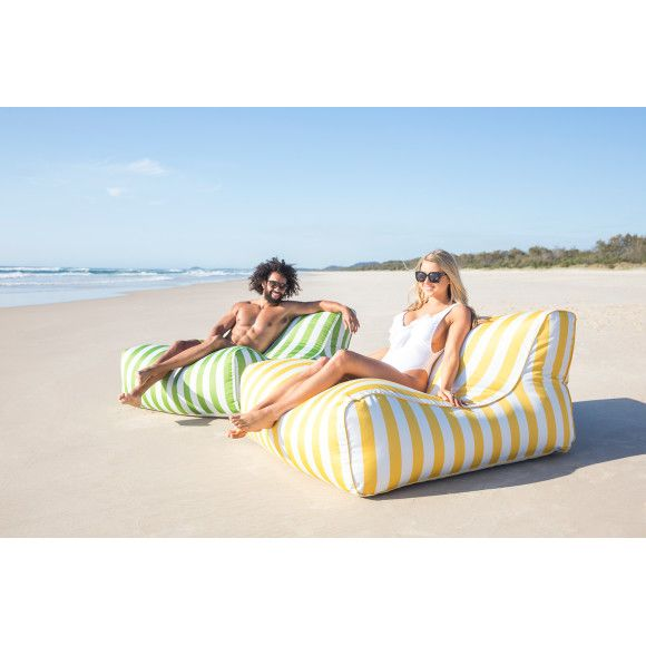 Life's better in a beanbag. One of our most popular outdoor bean bags, the Lounger offers superb shape and comfort in a stylish design. Made from our high quality UV treated spun polyester you can safely leave your Lounger bean bag outside in all weather. Can I get my bean bag wet? Yes - Our unique Flowtex self-draining system protects your bean filling with a waterproof inner whilst the Textilene base allows self draining after getting wet. This system also offers a easy way to remove ...