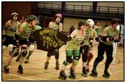 Last Saturday, we organised a rockabilly-themed bout vs the Romsey Town Rollerbillies, who came to Beveren, all the way from Cambridge (UK) for our 4th official bout!   Read the full report by clicking the picture above :)