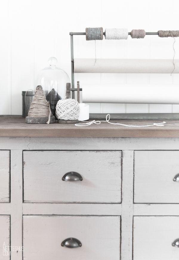 workroom love with vintage dresser drawers