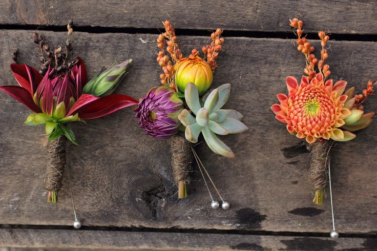 love these boutonnières